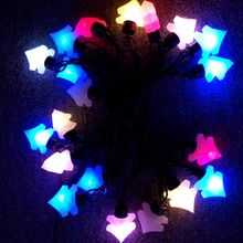 RGB Christmas Decorative Light Strings With Bells Diamonds