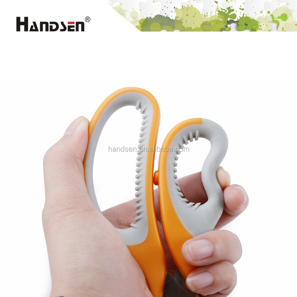 "New and popular 7-1/2"" soft grip handle antiskid scissors"