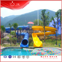 Big fiberglass Water Slides For Children/Adults On Sale