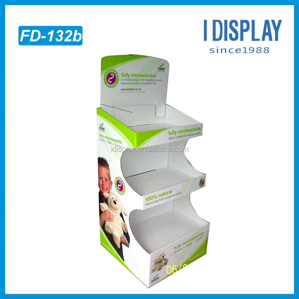 3 sides Cardboard Display Shelf Stand for Babie Dolls