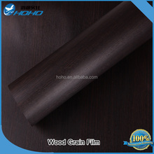 Chinese manufacturer interior high glossy wooden grain PVC/ pet decorative film for furniture /cabinet /door