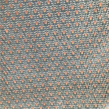 Recycled peach skin printed spandex fabric