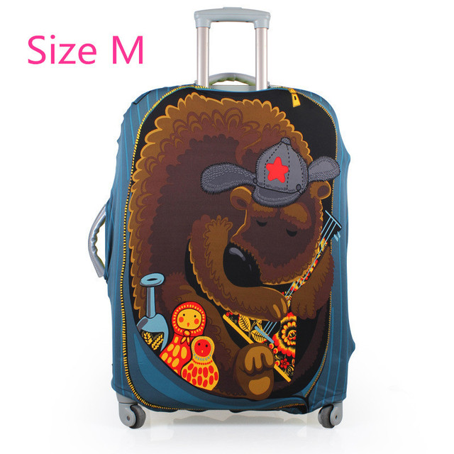 printed elastic polyester travel luggage cover for 20-32inch suitcase Protective Cover Travel Trunk Dirt-Proof