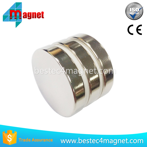 "Super Strong Neodymium Magnets N42, Round Disc 1 1/3"" D x 1/4"", (Ndfeb) Rare Earth Bulk of Permanent Magnets"