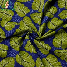 Green Leaf Print 82% Polyamide 18% Elastane Swimwear Fabric