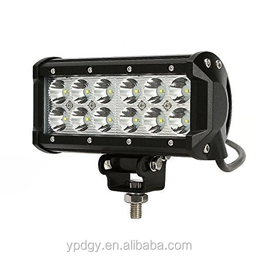 Auto part CE ROHS IP67 12v waterproof 36w illuminator led light bar super bright work light