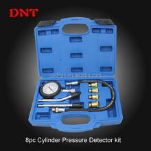 high quality 8pc cylinder Pressure Detector kit/Petrol engine compression tester/china supplier/professional auto repair tools