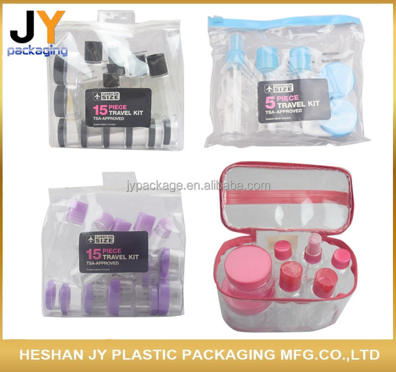 Travel cosmetic bottle set