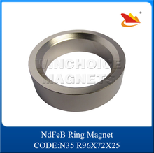 Neodymium NdFeB cheap big radial magnetization ring magnet