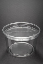 16oz clear plastic deli container with leakage proof inner locked flat lid