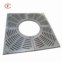 FM-TR-low price Square Radial ductile or grey cast iron tree grate and grille for tree guard