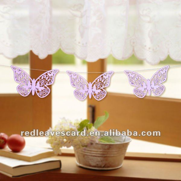 New Arrival: Red Leaves Laser Cut Paper Butterfly Hanging Decoration HE1201-01