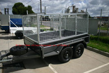 ATV timber large capacity box trailer with metal mesh on sale