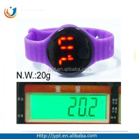 multicolor silicone band led cool kids watches silicone led watches