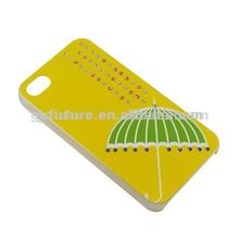 3D diamond covers for mobiles phone, back cover case for iphone4