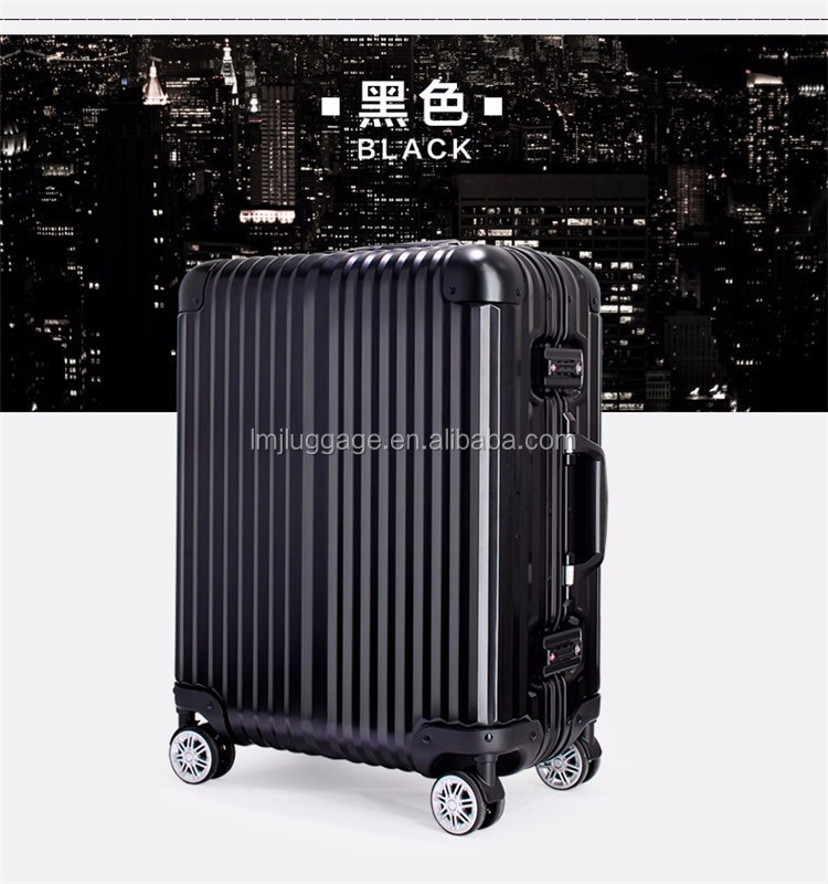 Hot sale aluminum alloy frame luggage case/scooter suitcase/trolley luggage hard shell travel suitcase