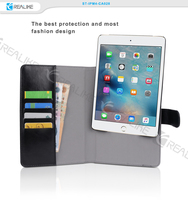 New product wholesale black stand leather detachable for ipad mini 4 case