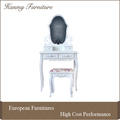 2016 new vanity wooden dressing table white with stool ( T002)
