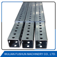 Shandong manufacturer powder coated road perforated square sign post