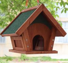 Outdoor courtyard balcony solid wood rainproof beautiful durable bird feeder garden bird cage