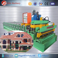 High Speed Color Steel Metal Double Deck Roof Tile Roll Forming Machine