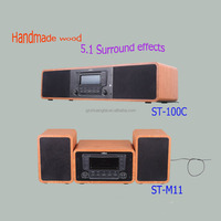 Promotion price 2.1 ch wooden multimedia speaker with bluetooth for home theater