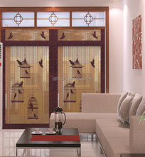 Roller bamboo blinds light brown color