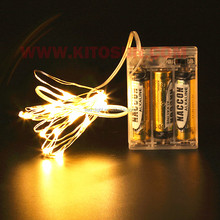 10m 100 leds battery operated copper wire string light can be lit for a long time