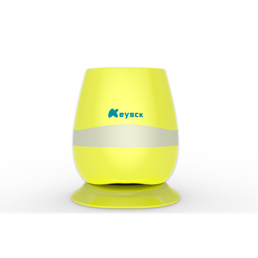 Best bluetooth Flowerpot Wireless Speaker Mini SUPER BASS Creative Gift Toys yellow