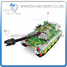 MINI QUTE Tank Iron commander metal connect puzzle Assembly DIY building blocks kid educational toys NO.816L-5
