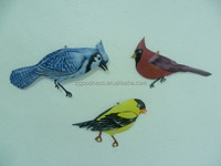 3 PCS DIFFERENT BIRDS METAL WALL DECOR.