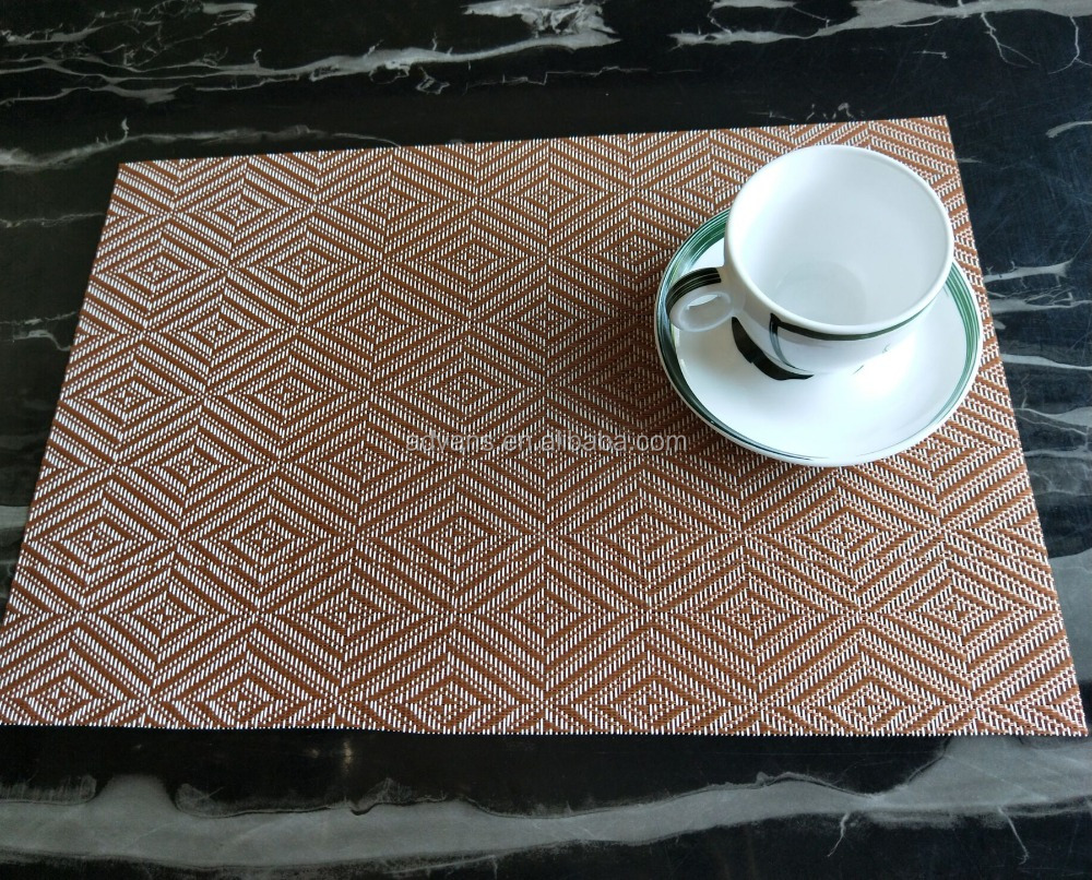 Reliable supplier high quality dishwasher safe restaurant coffee dinner PVC PP PE vinyl wowen fabric placemat