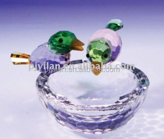nice crystal bird nest glass crystal k9 good quality nest figurines favors gifts crafts crystal bird nest for wedding gift