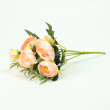 Manufacturer Wholesale Cheap 29cm Handmade Artificial camellia Flower For Funeral