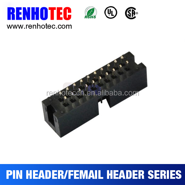 PCB Connector Pitch Double Rows Female Pin Header in Straight Type