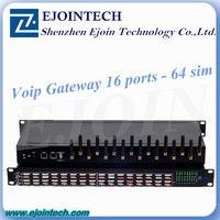 Voip gateway 16 channel 64 sim card gsm gateway support vpn network