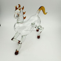 750ml pyrex art wine glass horse shape bottle