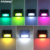 Super bright 7 color changing wall mounted solar outdoor wall light for yard path garden lighting
