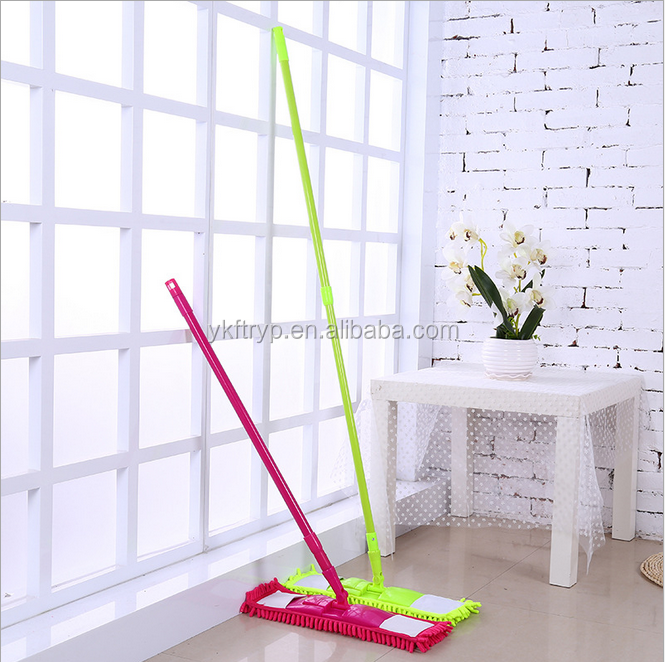 Factory sales easy cleaning mop professional commercial microfiber dust flat mop