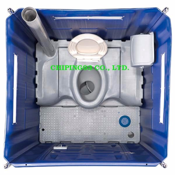 HDPE assembling plastic portable toilet for festival seasons use