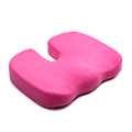 Airplane Stadium Wheelchair Posture Polyester Memory Foam U Shape Car Seat Cushion With Velvet Cushion Covers