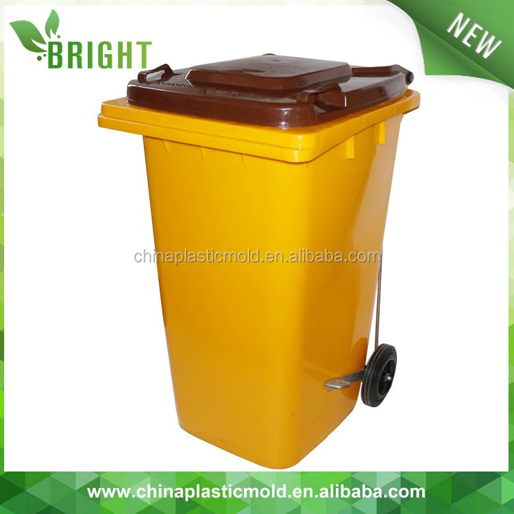 240liter HDPE industrial cheap plastic recycle bin, outdoor dustbin, mobile bin