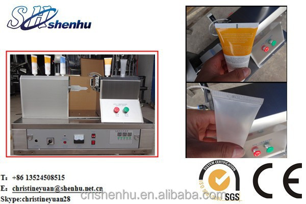 date printing, Cosmetic Tube Tail End Sealing Machine For Medicine Chemical Cream
