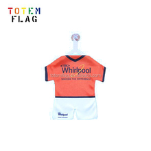 gym clothing custom mini football jersey with suction for car