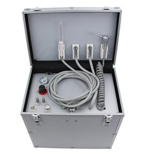 2017 hot sale portable dental unit with air compressor