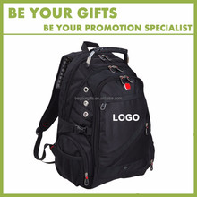 Good quality Promotional Custom logo waterproof 1680D large capactiy 15 inch laptop backpack bags