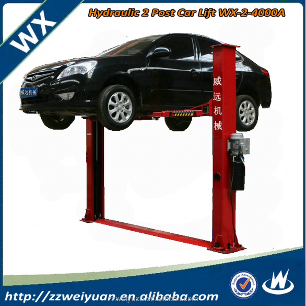 Hot Sales Hydraulic 2 Post Car Lifter for Sale, Hydraulic 2 Post Free Standing Car Lift Hoists WX-2-4000A 3.5T 4T 4.5T