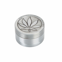 Hot Silver Aluminum Alloy Grinders Metal Tobacco Herb Spice Grinder Smoking Weed 3Part Crusher Hand Muller hookah