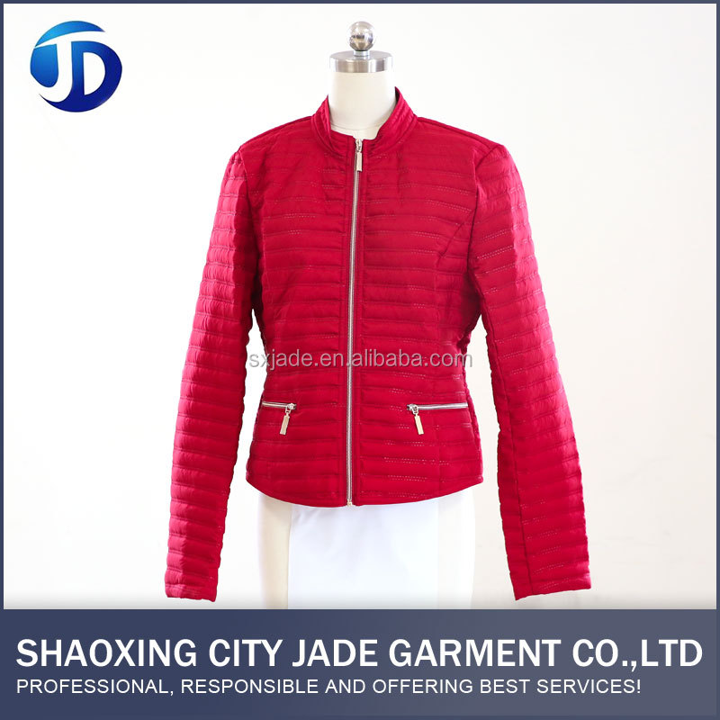 Excellent Material New Style Padded Leather Jacket Women