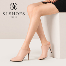E0403 2018 new arrivals women high quality comfortable fancy mules ladies high heel slippers sandals shoes